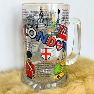 Other - NWOT London England Glass Attractions Mug